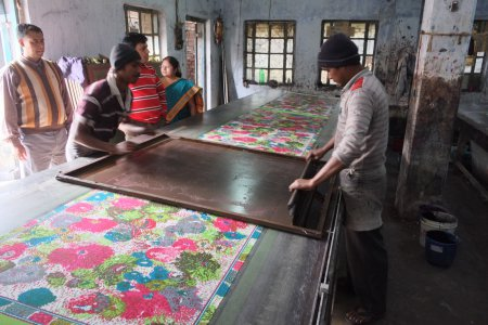 Traditional Screen Printed Scarves