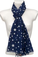 Star Design Scarf Pure Cotton