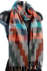 Ikat Weave Scarf