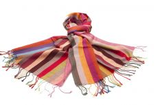 Wool Blend Striped Scarf YS351