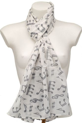 Music Note Scarf: Blue on Blue