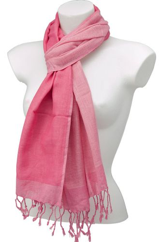 Reversible cotton scarf