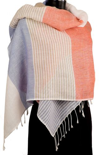 Linen And Cotton Summer Scarf
