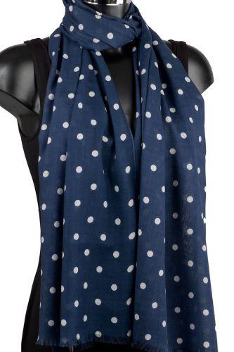 Polka Dot Scarf: Misty Blue