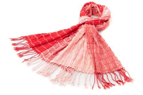 Soft Textured Scarf: Red