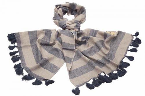 Silk Blend Winter Scarf: Grey